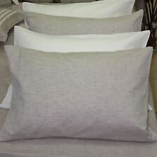 Linen Pilowcase/Envelope Closure/King Body Pillow/ Flax PILLOW CASE COVER