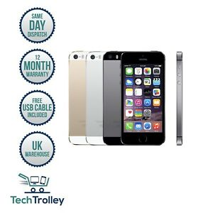 Apple iPhone 5s 16GB/32GB/64GB ALL COLOURS Unlocked A1507 12 Month Warranty