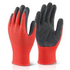 1 Pair Of Work Gloves Thermal Protective Gardening Builders DIY Latex Coated
