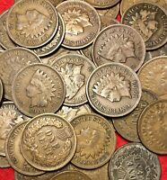 (1) VG to Fine Indian Head Penny 1 Cent US Coins Lot 1880 - 1909 Partial Liberty