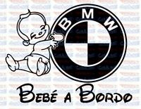 Pegatina decal sticker bebe a bordo baby on board logo bmw 20cm