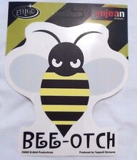 """Angry BEE  Sticker Decal Quality Weather Resistant New 4"""" x 4.6"""" Bumble Bee-Otch"""