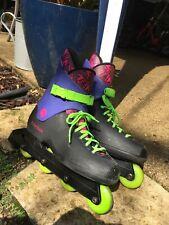 Vintage Rollerblade TRS Lightning Inline Skates Neon Size 10.5 US 44.5 EUR Men