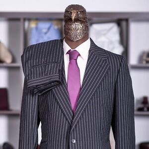 Great $3500 GUCCI by TOM FORD Suit Black  Chalk Stripe 46US/56IT  Long