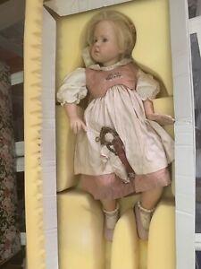 Hildegard Günzel Wax Over Porcelain Doll 74 Cm. Top Condition