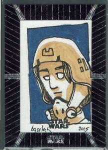 Star Wars High-Tek 2015 Topps 1/1 Artist Sketch Card Bruce Gerlach