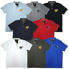 Santa Monica Polo Club Men's Classic Regular Fit Polo Shirt 100% Cotton Sz:S-2XL