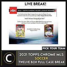 2021 TOPPS MLS CHROME футбол 12 коробка (полный чехол) перерыв #S204 — выбирайте свою команду