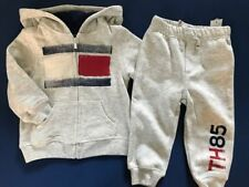 NWT TOMMY HILFIGER Baby Boy's SET OF 2. Zip -Up Hoodie & Pant Set, Size 24 mo.