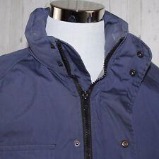 Eddie Bauer Medium Goose Down Blue Expedition Parka Winter Jacket Coat No Hood