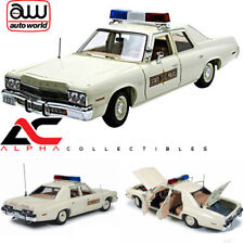 AUTOWORLD AMM1019 1:18 1974 DODGE MONACO ILLINOIS STATE POLICE WHITE