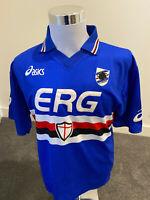 2003-04 Vintage Bazzani #9 UC Sampdoria Home Jersey XXL Asics ERG