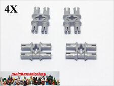 4X Lego® 32138 Technic Pin Doppel-Verbinder 4 Pins m. Kreuzloch neu Hellgrau NEU