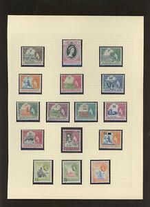 Basutoland QEII Mint collection on album pages