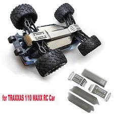 Chasis De Acero Inoxidable Armor anti-colisión Guardia Placa Para TRAXXAS 1/10 MAXX