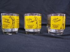 "Lot of 3 Wilson Bar Glasses ""Golf"" Archer, Boros, Casper VGC Lessons"