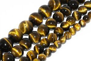 Natural Yellow Tiger Eye Beads Grade AAA Round Gemstone Loose Beads 6/8/10/12MM