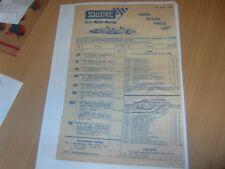"SCALEXTRIC "" James Bond 007 SET "" 1967 catalogue price list copy"