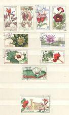 Q4997 - ROMANIA 1965 - SERIE COMPLETE USATE FIORI - N. 2156/64 - VEDI FOTO
