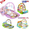 3 in 1 Baby Light Musical Gym Play Mat Lay & Play Fitness Fun Piano Boy Girl USA