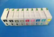 80ml refillable ink cartridge with auto reset chip for EPSO N 3800 printer; 9pcs