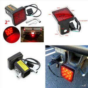 """12LED Super Bright Truck Brake Light Trailer Hitch Cover Fit Towing & Hauling 2"""""""