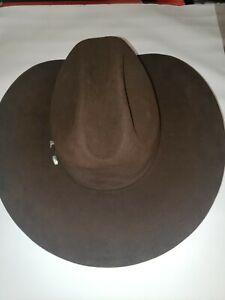 Vintage Resistol Self Conforming Ranch Suede Chocolate Cowboy Hat Size 7 1/4