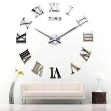 Yosoo DIY 3D Horloge Murale Design Géante Grande Taille Moderne Ronde avec Ch...