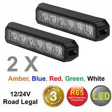 PAIR OF RVL G6 LED directional warning light beacon for recovery lightbar 12/24V