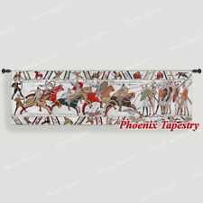 """Bayeux-III Medieval Old World Tapestry Wall Hanging, Cotton 100%, 57""""x18"""", UK"""