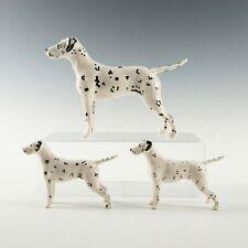 """Beswick Standing Dog Figure """" Dalmation """" Set Of 3"""