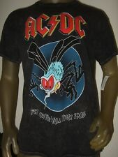 New Men's S-2X Black AC/DC Fly On The Wall 1985 Concert USA Tour Rock Band Shirt