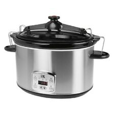 Kalorik SC 41175 SS Stainless Steel 8 Qt Digital Slow Cooker with Locking Lid