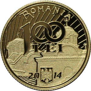 ROMANIA-GOLD-650th anniversary of the beginning of the reign of Vladislav Vlaicu