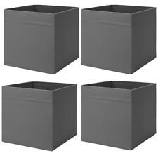 IKEA DRÖNA GRAU Fach Box Expedit Kallax Regal Aufbewahrungsbox Kiste 4 Stück