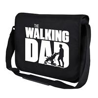 The Walking Dad Fun Vatertag Schwarz Motiv Comedy Umhängetasche Messenger Bag