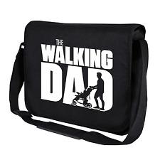 The Walking Dad   Fun   Vatertag   Schwarz   Kult Umhängetasche   Messenger Bag