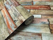 Multicolore, effet bois/Design Papier Peint