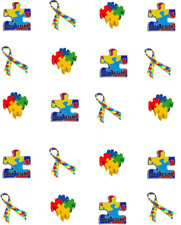 Autism Ribbon/ Puzzle Piece Waterslide Nail Decals/Nail Art