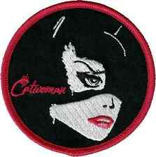 16218 Catwoman Face DC Comic Book Batman Superhero Round Iron Sew On Patch