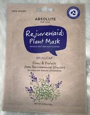 6 Absolute New York Rejuven(aid) Plant Mask Skull Cap, Firms and Protects.Vegan.