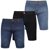 MENS DENIM SHORTS STRETCH SLIM FIT REGULAR SUMMER CASUAL HALF JEANS PANTS SIZE