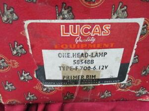 1959-1960 Hillman Minx NOS Lucas 58548B head lamp assembly with F700 lamp bulb