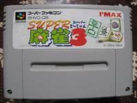 SFC SNES IMAX Super Mahjong 3 dry spicy Karakuthi SHVC-Q8 Super Famicom