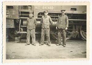 Dampflokomotive 64 482 Reichsadler Zug Lok Arbeiter Altes Foto 1930er 1940er