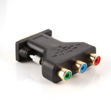 VGA Male To YPBPR 3RCA Adapter Converter 15Pin PC Computer to Projector TV DVD