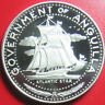 1969 ANGUILLA $4 SILVER PROOF ATLANTIC STAR NAVAL SHIP RARE COUNTRY & COIN! 40mm
