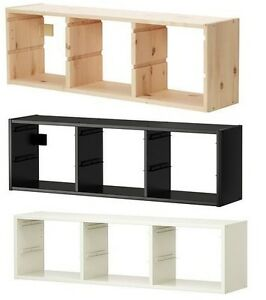 Ikea TROFAST Wall Toys Small Things Storage Unit, Storage Boxes,Pine,Black,White