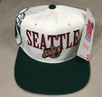 Seattle Sonics Supersonics NBA Sports Specialties Laser Shadow Snapback Cap Hat