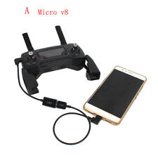 Connect Phone Tablet For DJI Mavic Pro Transmitter Cable USB Micro V8 Adaptor